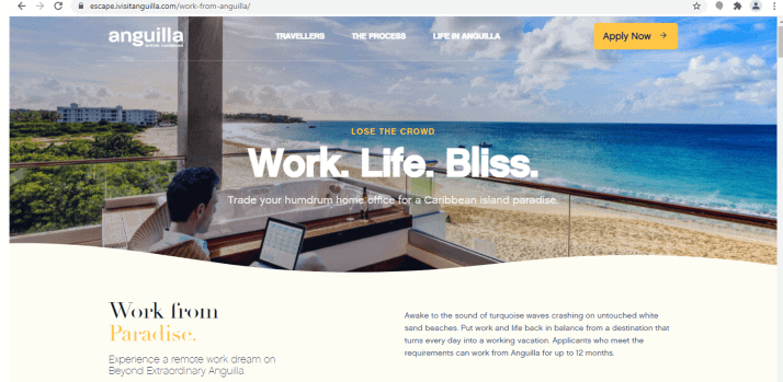 Anguilla work from home programme